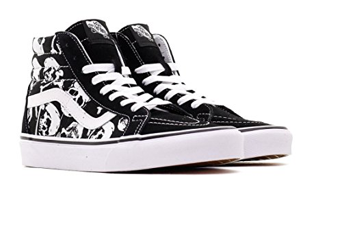 26103f25977f38 Vans Unisex Shoes SK8 Hi Reissue (Skulls) Black White Skate Sneakers (7.5