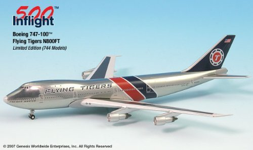 Flying Tigers N800FT 747-100F Airplane Miniature Model Metal Die-Cast 1:500 Part# A015-IF5741003