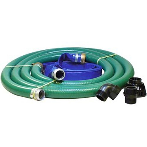 JGB Enterprises Eagle Hose PVC/Aluminum Water/Trash Pump Hose Kit, 2