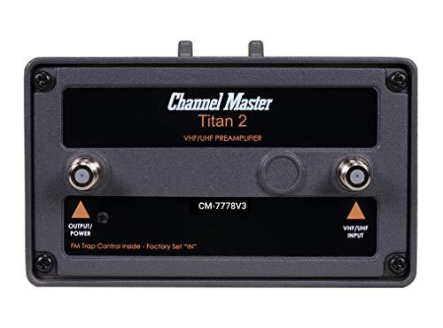 Channel Master CM-7778V3 Titan 2 Medium Gain TV Antenna Preamplifier [Version 3]