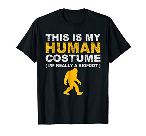 This Is My Human Costume T-Shirt Bigfoot Family Animals Gift -