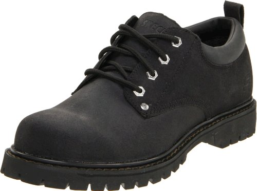 Skechers USA Men's Alley Cat Utility Oxford,Black,10.5 M US Cat Casual Shoes