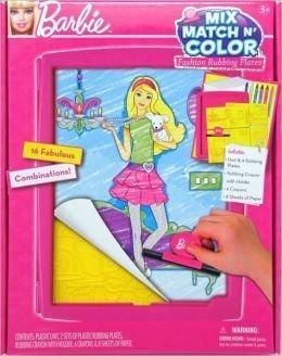 Barbie Mix, Match n' Color Fashion Rubbing Plates Tara Toy