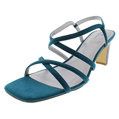 Bandolino Womens Obexx Faux Suede Strappy Sandals Blue 11 Medium (B,M) ()