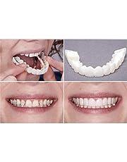 Magic Teeth Smile Perfect Snap Veneers, Tijdelijke Cosmetische Tanden Cover Instant Tandreparatieset, Fitting Beads voor Snap Cover Ontbrekende Tanden 2 Paar