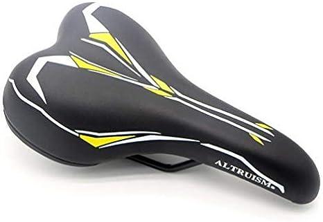 suave suave para bicicleta de monta/ña bicicleta de carretera c/ómodo Sill/ín de bicicleta de 5 colores sill/ín de bicicleta amarillo amarillo ALTRUISM