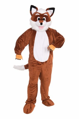 Forum Novelties Men's Promotional Fox Mascot Costume, Brown/White, One Size]()