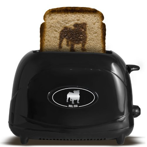Pangea Brands TSTE-PET-BUL 2-Slice Pet Emblazing Toaster, Bulldog by Pangea Brands