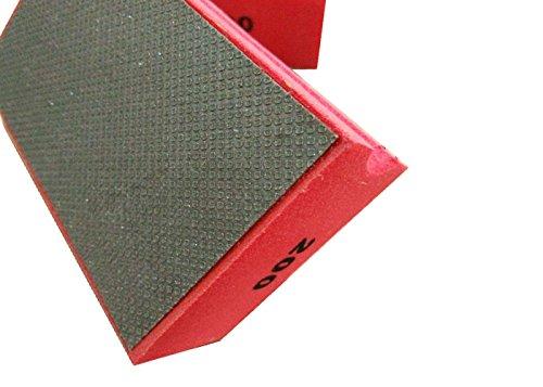 20 pieces 200 # 90x55mm Electroplated Diamond Tools Diamond Hand Polishing Pads