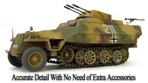 (AFV Club 1/35 SdKfz 251/21 Ausf D Medium Halftrack w/German MG151 20mm Anti-Aircraft Gun Kit)