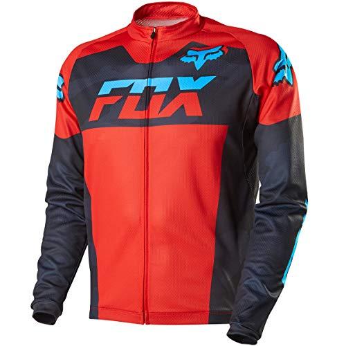 Fox Head Men's Livewire Race Mako Long Sleeve Jersey, Black Camo, Large