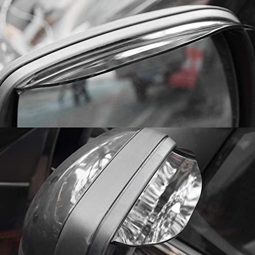 laonBonnie 2 Teile//Satz Universal Auto Auto R/ückspiegel Regen Bl/ätter Durable Regen Acryl Anti Regen Visier Schneeschutz Autozubeh/ör schwarz