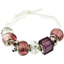 Darice Mix and Mingle Glass Lined Metal Beads, Amethyst 3