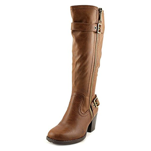 Womens Dover Boots Mountain Cognac White Closed Fashion High Wide Knee Toe 7g5aq