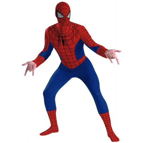 Disguise Men's Marvel Spider-Man Deluxe Costume, Blue/Red, X-Large