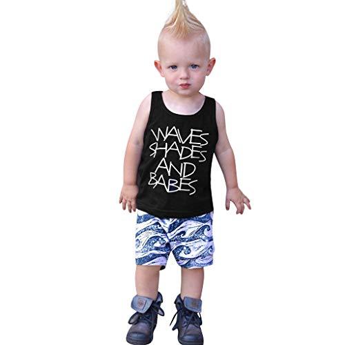 Shusuen_baby Infant Boy Clothes Vest +Camouflage Shorts Summer Outfit Set 2 pcs Letter Print Clothes