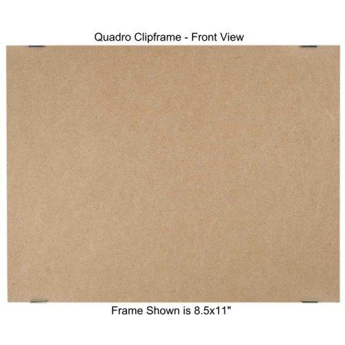 (Quadro Clip Frame 8.5x11 inch Borderless Frame, Box of 12)