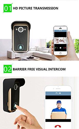 WiFi Wireless Video Intercom Doorbell Wireless Doorbell Mobile Phone APP Remote Control Unlock Remote Monitoring by JIA (Image #3)
