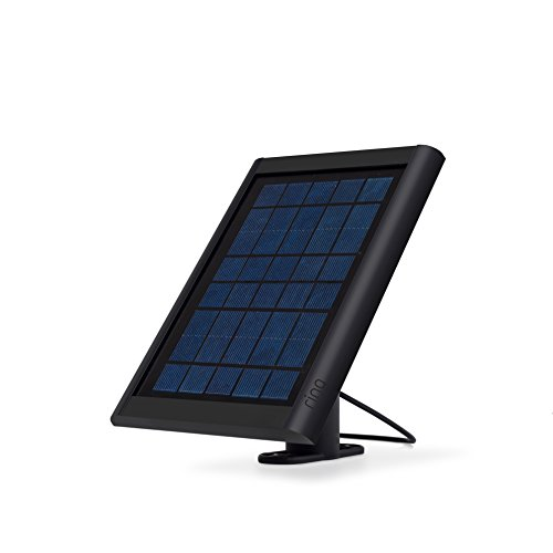 Ring Solar Panel Black - Compatible with Ring Spotlight Cam Battery and Stick Up Cam Battery (The Best Solar Panels For Your Home)