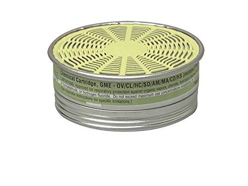 Chemical Cartridge, Olive, Threaded, PK10