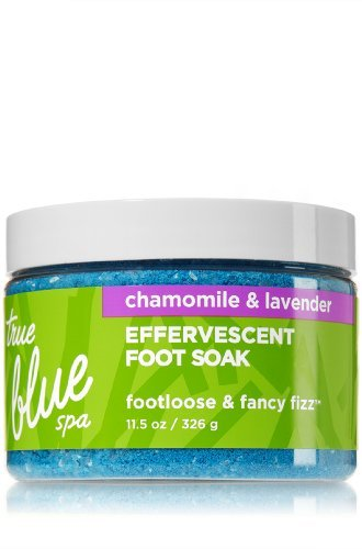 Bath and Body Works True Blue Spa Footloose Fancy Fizz Effervescent Foot Soak French English ()