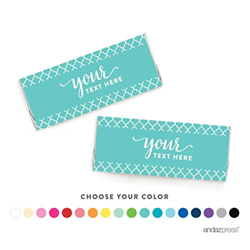 Andaz Press Fully Personalized Collection, Hershey Bar Labels, 10-Pack, Custom Text or (Custom Candy Bar)