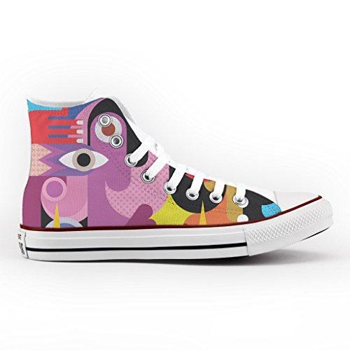 Converse All Star Personnalisé et Imprimés - chaussures à la main - produit Italien - Cubism