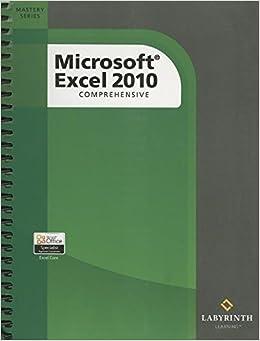 Microsoft Excel 2010: Comprehensive Books Pdf File