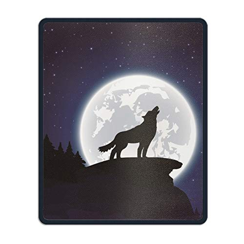 Halloween Night Wolf and Moon Mouse Pad -