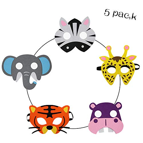 Zoo Animal Masks for Kids Woodland Safari Costume Boys Jungle Party Supplies ()