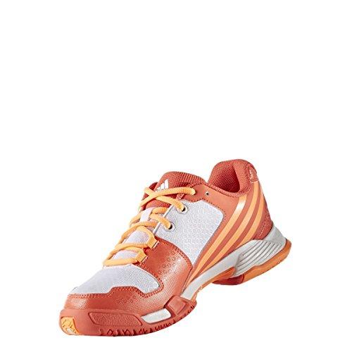 adidas Volley Team 4W - Zapatillas de voleybol para Mujer, Naranja - (CORSEN/NARBRI/FTWBLA) 46