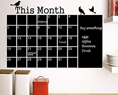 Calendario Parete.Minisu Calendario Planner Lavagnetta Lavagna Lavagna Adesivo