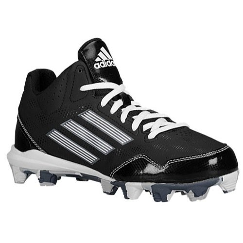 adidas Wheelhouse 2K MID BSBL Boys Baseball Shoes Size US 1, Regular Width, Color Black/White