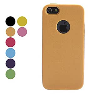 AES - Matting Detachable Soft Case for iPhone 5/5S (Assorted Color) , Black