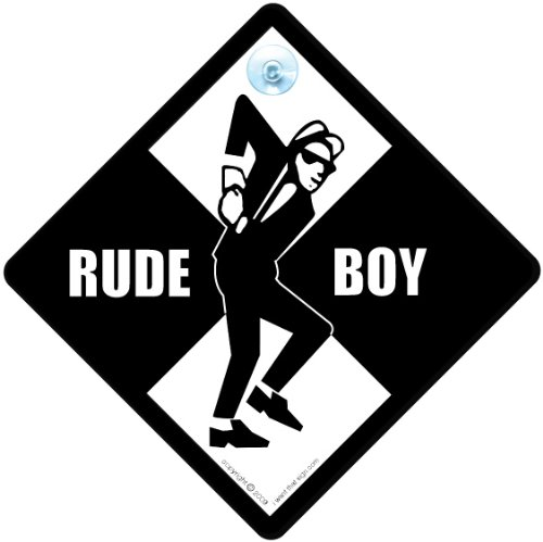 Baby on Board Sign Style Rude Boy Car Sign 2 Tone Sign Two Tone Sign Rude Boy Sign Music Sign baby on board,decal Rude Boy Ska Sign Bumper Sticker Sign Style