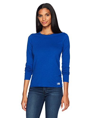 (Russell Athletic Women's Essential Long Sleeve Tee, Royal, M)