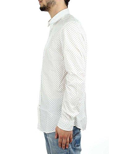 DIESEL - - Homme - Chemise Blanca Micro Fleur Blanche pour homme