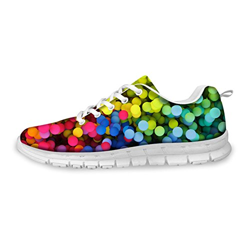 HUGS IDEA HUGSIDEA colorful Womems Casual Running Sneakers Light Weight Breathable Athletic Sport Shoes US12 6em7QR6jj