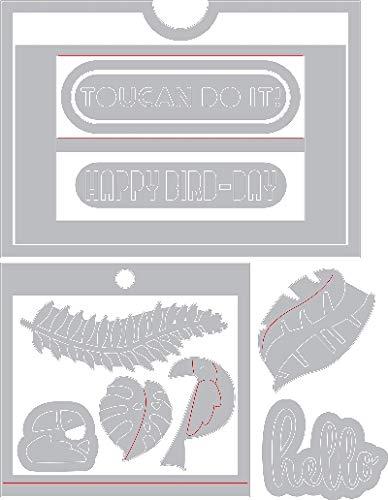 Sizzix Framelits Die Set 12PK - 662783 Tropicool Slider Card by Lynda Kanase ()
