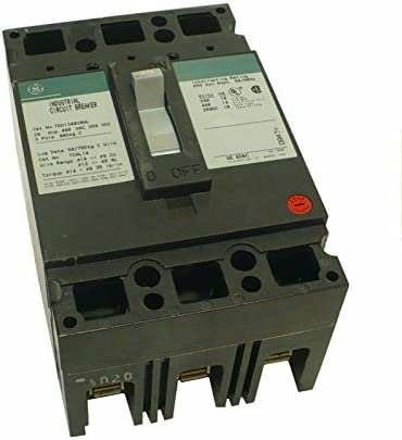 GE TED134020WL Bolt-On Mount Type TED Molded Case Circuit Breaker 3-Pole 20 Amp 480 Volt AC