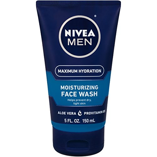 NIVEA Men Maximum Hydration Moisturizing Face Wash - Helps Prevent Dry Tight Skin - 5 fl. oz. Tube (Best Face Cleaner For Men)