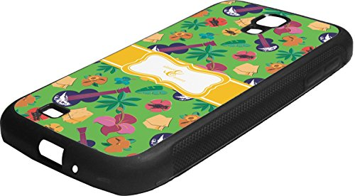Luau Party Rubber Samsung Galaxy 4 Phone Case (Luau Rubber)