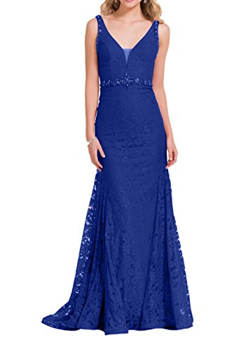 Etuikleider Charmant Damen Festlichkleider Blau Royal Lang Brautmutterkleider Rot Spitze Rock Abendkleider Ballkleider Dunkel nrrgS0Odwq