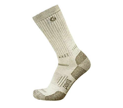 Point 6 Defender, Medium, Mid-calf, Desert Sand, Medium (37.5) with a Helicase sock ring