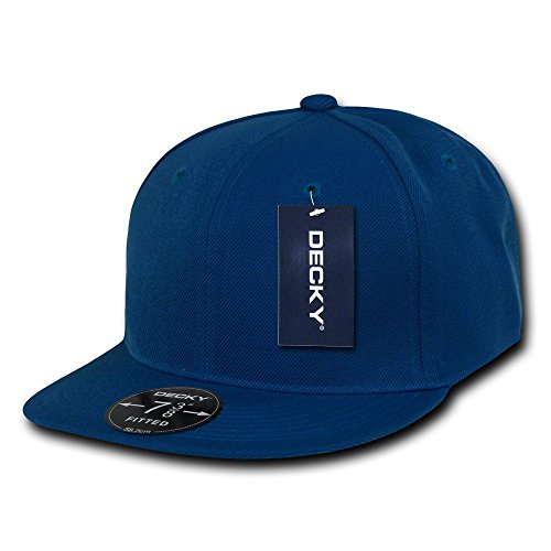 - DECKY Retro Fitted Cap, Royal, 6 7/8