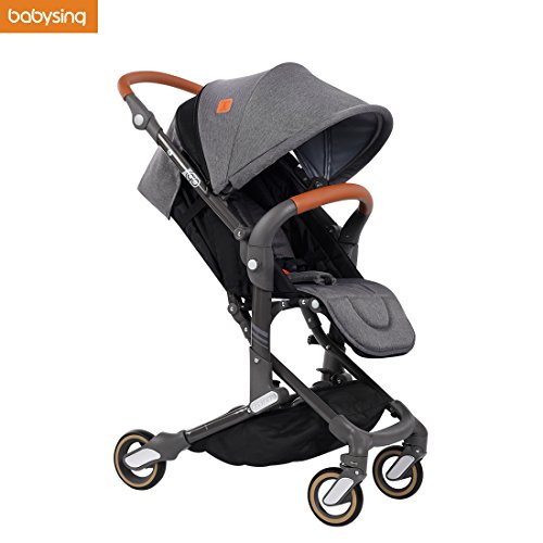 Babysing High View Lightweight Deluxe Convenience Stroller(Grey) by babysing
