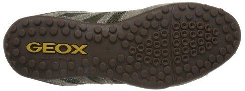 Geox UOMO SNAKE K - Caña baja de lona hombre beige - Beige (TAUPE/DK GREEN C6493)