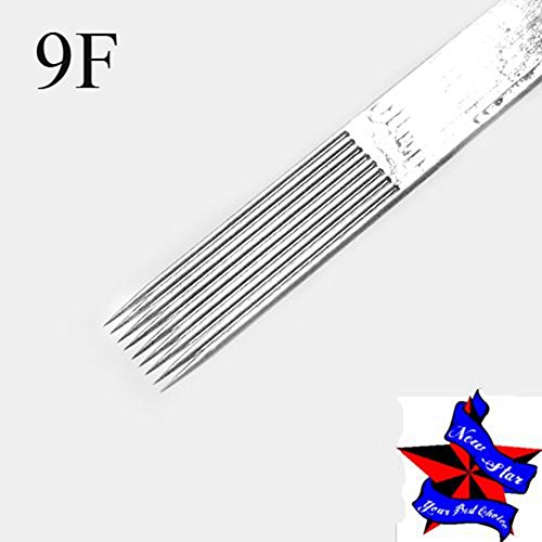 New Star Box Of 50  12 9F Flat Shader Premade Sterile Tattoo Needles Supply 1209F