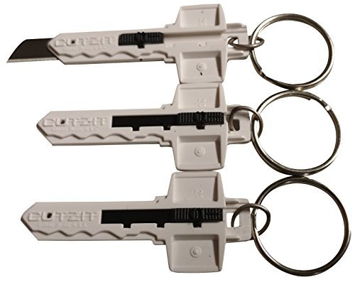 Keychain Knife with Retractable Razor Blade-Best Small Box Cutter/Penknife Smaller than Xacto Knife