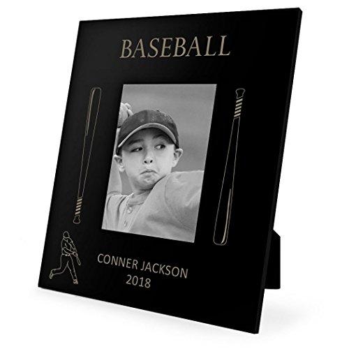 Photo Baseball Bat - Personalized Baseball Bats Frame | Engraved Baseball Picture Frame by ChalkTalk SPORTS | Vertical 4X6